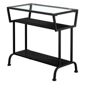 """Monarch Specialties Kelsey Accent Table, 22""""H x 24""""W x 12""""D, Cappuccino/Black"""