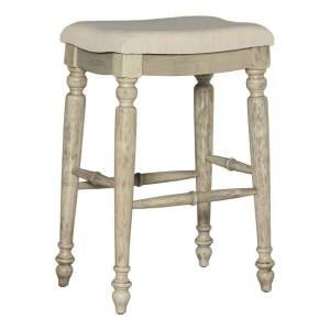 Linon Home Dcor Products Everett Bar Stool, Backless, Neutral/White Wash