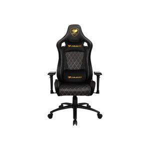 COUGAR Armor S Royal - Chair - ergonomic - high-back - armrests - T-shaped - tilt - swivel - steel, PVC leather, high-density foam