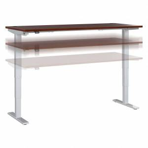 """Bush Business Furniture Move 40 Series by Bush Business Furniture Height-Adjustable Standing Desk, 72"""" x 30"""", Hansen Cherry/Cool Gray Metallic, Standard Delivery"""