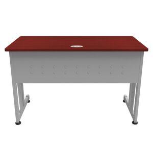 "Linea Italia, Inc. 48""W Training Table, Gray/Cherry"