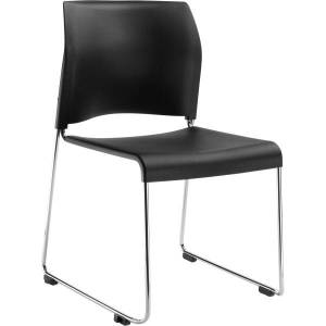 National Public Seating 8800 Cafetorium Chair, Black/Chrome
