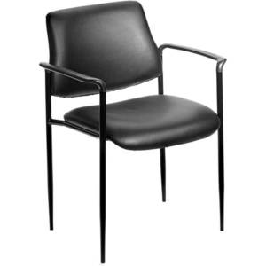 Boss Office Products Stackable Chair, Black