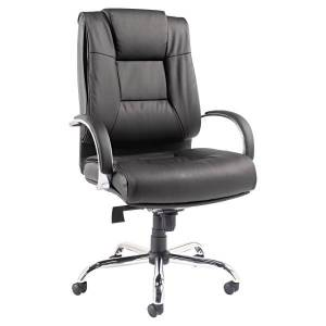 Alera Ravino VL685 Big And Tall High-Back Swivel/Tilt Bonded Leather Chair, Black