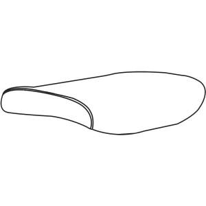 """StyleWorks London Task Chair Seat Slipcover - 20.25"""" Length x 19.50"""" Width - Blue - 1 Each"""