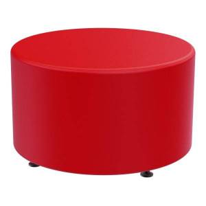Marco Group Sonik Round Ottoman, American Beauty Red