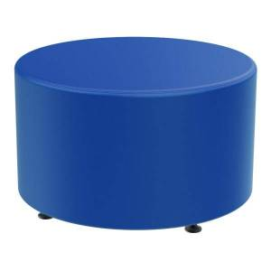 Marco Group Sonik Round Ottoman, Royal Blue