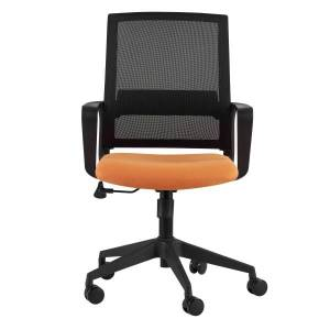 Eurostyle Livia Mesh Mid-Back Home Office Chair, Orange