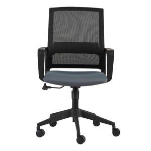 Eurostyle Livia Mesh Mid-Back Home Office Chair, Black/Gray
