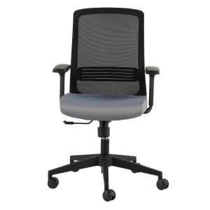 Eurostyle Spiro Fabric High-Back Commercial Office Chair, Black