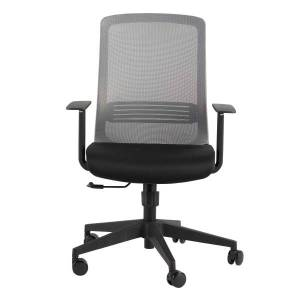 Eurostyle Spiro Fabric High-Back Commercial Office Chair, Gray