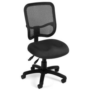 OFM Mesh Comfort Series Fabric Mid-Back Ergonomic Task Chair, Black