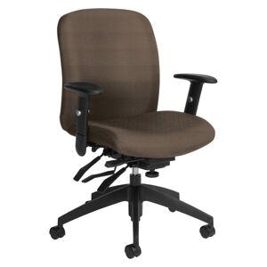 Global Truform Multi-Tilter Chair, Mid-Back, Earth/Black
