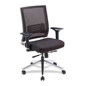 Lorell Executive Multifunction Mesh/Fabric Swivel Chair, Black