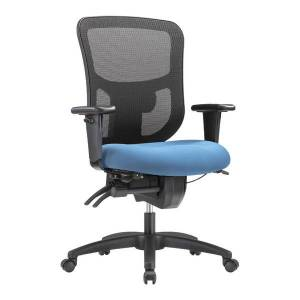 WorkPro 9500XL Series Big And Tall Mesh/Fabric Mid-Back Multifunction Office Chair, Sky/Black