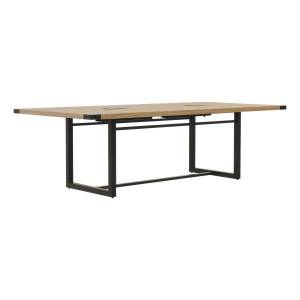"""Safco Mirella Sitting-Height Conference Table, 29-1/2""""H x 96""""W x 47-1/4""""D, Sand Dune/Black"""