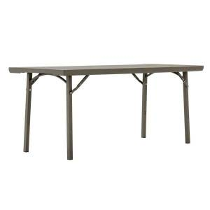 """Cosco Folding Table, Rectangle, 30""""H x 72""""W, Brown"""