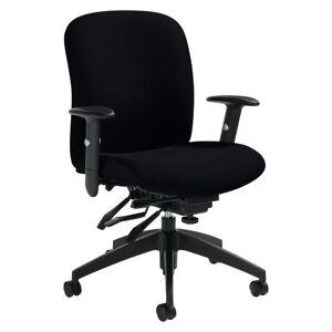 "Global Heavy-Duty Truform Multi-Tilter Adjustable Chair, Mid-Back, 38 1/2""H x 26""W x 25""D, Black"