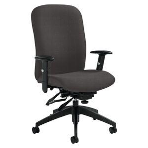 "Global Truform Medium-Back Multi-Tilter Adjustable Chair, Heavy-Duty, 38 1/2""H x 26""W x 25""D, Graphite"