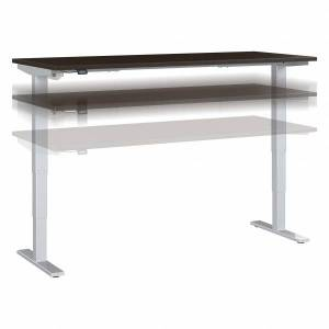 """Bush Business Furniture Move 40 Series by Bush Business Furniture Height-Adjustable Standing Desk, 72"""" x 30"""", Mocha Cherry/Cool Gray Metallic, Standard Delivery"""