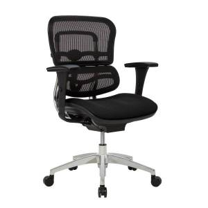 WorkPro 12000 Series Mesh/Fabric Mid-Back Manager's Chair, Black/Chrome