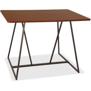 """Safco Oasis Standing-Height Teaming Table - High Pressure Laminate (HPL), Cherry Top - 60"""" Table Top Width x 48"""" Table Top Depth - 42"""" Height - Assemb"""