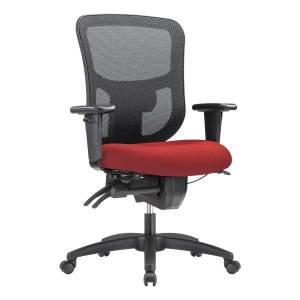 WorkPro 9500XL Series Big And Tall Mesh/Fabric Mid-Back Multifunction Office Chair, Cherry/Black