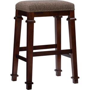 Linon Home Dcor Products Marshall Backless Bar Stool, Walnut/Brown