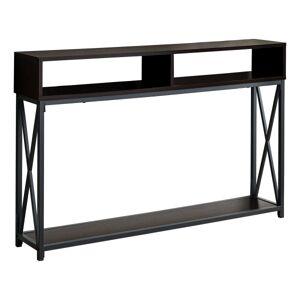 "Monarch Specialties Paola Console Accent Table, 30-1/2""H x 47-1/4""W x 9""D, Espresso/Black"