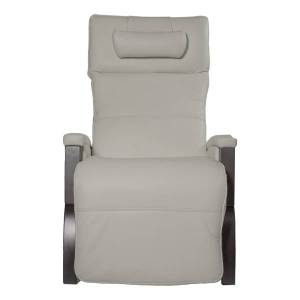 HoMedics Svago Newton Massage Chair, Ivory/Dark Walnut