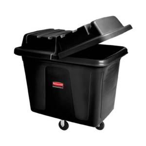 "Rubbermaid Commercial Recycling Cube Truck - 119.69 gal Capacity - Rectangular - 37"" Height x 43.8"" Width x 31"" Depth - Medium Density Polyethylene (M"