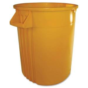 Gator 44-gallon Container - Lockable - 44 gal Capacity - Impact Resistant, Crush Resistant, Spill Resistant, Handle - Polyethylene Resin, Plastic - Ye