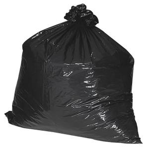 """Nature Saver 75% Recycled Heavy-Duty Trash Liners, 33 Gallons, 33"""" x 49"""", Black, Box Of 100"""