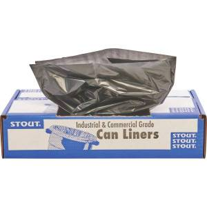 """Stout Total Recycled Content Trash Bags, 1.3-mil, 20 - 30 Gallons, 30"""" x 39"""", 100% Recycled, Brown, Carton Of 100"""