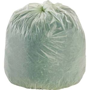 Stout EcoSafe-6400 Compostable Compost Bags, 0.85 mil, 32-Gallon, Green, Box Of 50