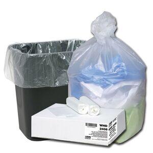 "Webster Ultra Plus 8 mil Trash Bags, 10 gal, 24""H x 24""W, Natural, 500 Bags"