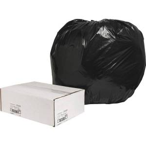 """Nature Saver naturesaver 1.25-mil Can Liners, 56 Gallons, 43"""" x 48"""", 75% Recycled, Black, Box Of 100"""