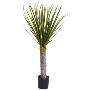 Nearly Natural 3'H Plastic Yucca Tree With Pot, Green