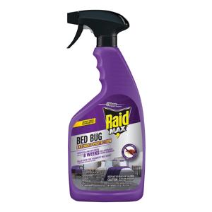 Raid Max Bedbug & Flea Killer, 22 Oz, Pack Of 4 Cans