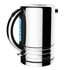 "Dualit Design Series Electric Tea Kettle, 9""H x 6""W x 7""D, Stainless"