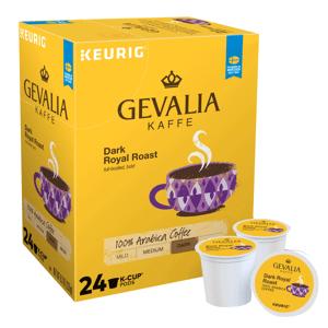 Keurig Gevalia Dark Royal Roast Single-Serve K-Cup, Carton Of 24
