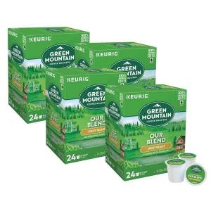 Green Mountain Coffee Single-Serve Coffee K-Cup, Our Blend, Carton Of 96, 4 x 24 Per Box