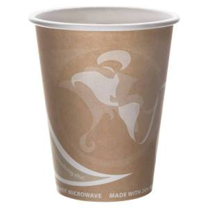 Eco-Products Evolution World PCF Hot Cups, 8 Oz, Peach, Pack Of 1,000