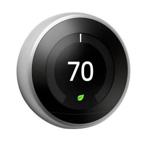 Nest Google Nest Learning Thermostat (3rd Generation), Stainless Steel