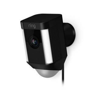 Ring Spotlight Cam Wired, Black