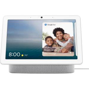 "Google Nest HubMax Smart Home Assistant - 9.9"" Width x 4"" Depth x 7.2"" Height - Chalk"