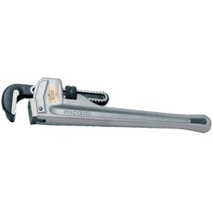RIDGID Aluminum Straight Pipe Wrench - Aluminum - 11 lb - Lightweight - 1 / Pack