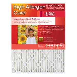 "DuPont High Allergen Care Electrostatic Air Filters, 20""H x 12""W x 1""D, Pack Of 4 Filters"