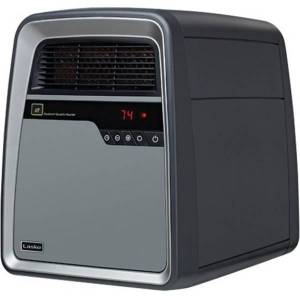 "Lasko� 6101 1500 Watts Electric Heater, 2 Heat Settings, 16.75""H x 12.75""W x 16.75""D, Silver & Gray"