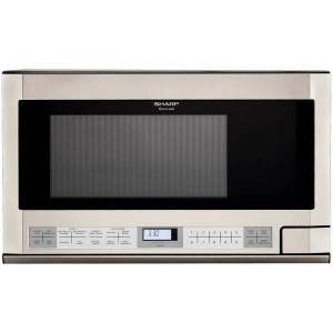 Sharp R1214T 1.5 Cu Ft Over-The-Range Microwave, Stainless Steel